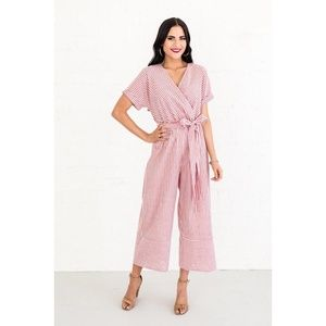 Rachel Parcell Pants - Rachel Parcell RP Give Me Stripes Jumper Jumpsuit